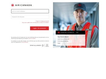 Sign On F5 Node 3 - Air Canada