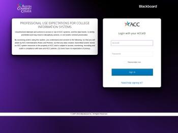 ACC Blackboard Login - Austin Community College