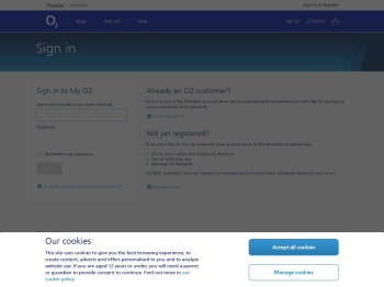 O2   Accounts   Sign in   View bills , balances and emails - My O2
