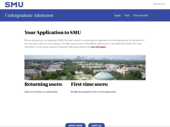 Your Application to SMU - Admission