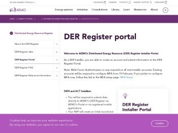 AEMO | DER Register portal