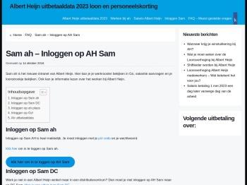 Sam ah - Inloggen op AH Sam, het intranet van Albert Heijn