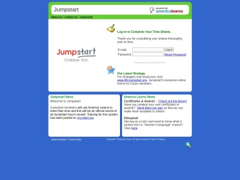 Jumpstart - Our America Learns Site