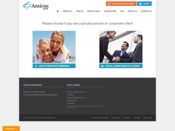 Amicus Invest Sign up - Amicus Invest