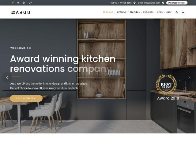Argu -  Kitchen WordPress Theme Screenshots