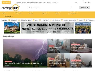Asystent BHP - akty prawne, ocena ryzyka zwodowego, pra