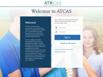 ATCAS | Applicant Login Page Section