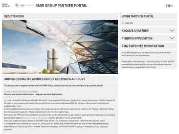 Registration - BMW Group Partner Portal - B2B Portal