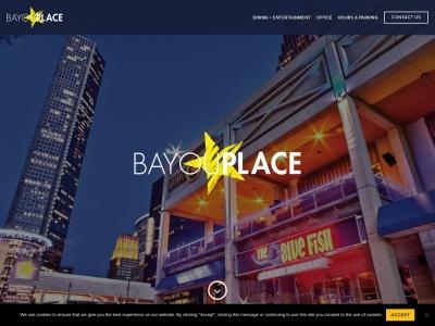 screenshot of Bayou Place's homepage