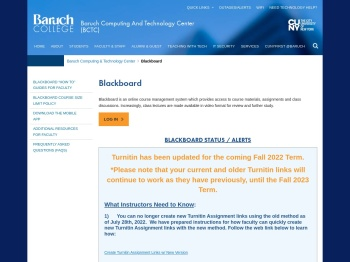 Blackboard - Baruch Computing & Technology Center