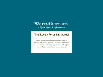 myWalden Student Portal - Walden University