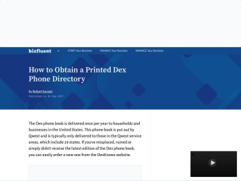 How to Obtain a Printed Dex Phone Directory - Bizfluent