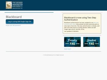 Blackboard, GWU - The George Washington University