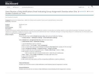 Users receive a daily notification that the assignment is overdue.