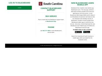 USC Upstate Blackboard log-in page