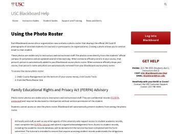 Using the Photo Roster - USC Blackboard Help