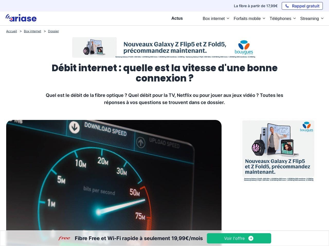 Débit internet : comprendre la vitesse de votre connexion