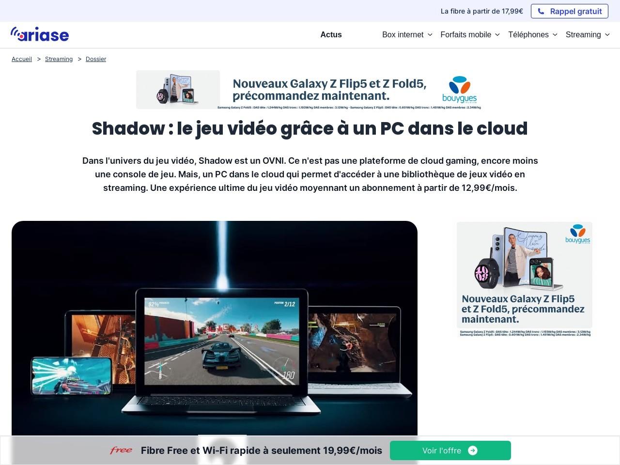 Blacknut, Shadow, Nvidia, PlayStation, Stadia : quel débit faut ...