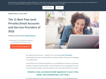 The 9 Best Free Email Accounts and Service Providers of 2020