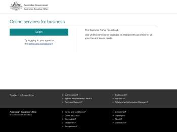 Australian Taxation Office Business Portal - Welcome