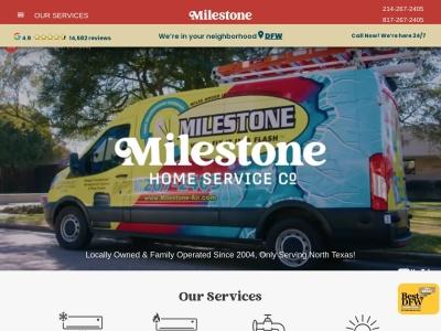 screenshot of Milestone's homepage