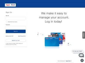 ExxonMobil: Log In or Apply - Citibank