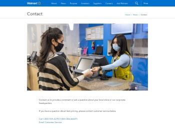 Walmart Corporate - Contact Us