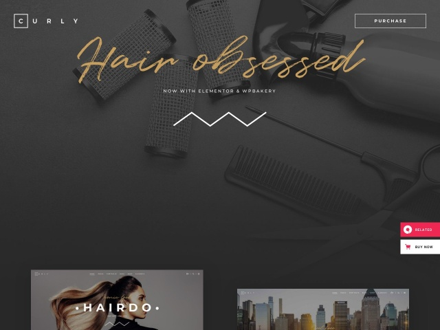 Curly - A Stylish Theme for Hairdressers and Hair Salons Screenshots