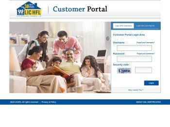 LIC HFL | Customer Portal: Login - LIC Housing Finance