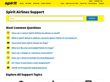 Spirit Airlines Support
