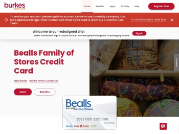 Burkes Outlet One Card Credit Card - Manage your account