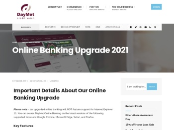 Online Banking - DayMet Credit Union