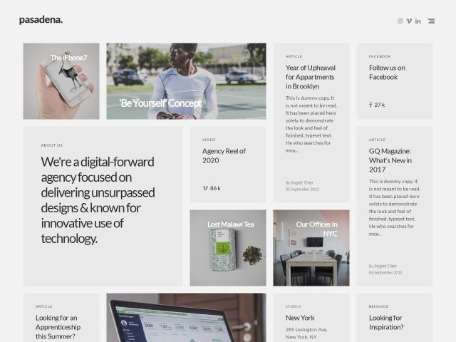 Pasadena - Contemporary Branding Agency Joomla Template Screenshots