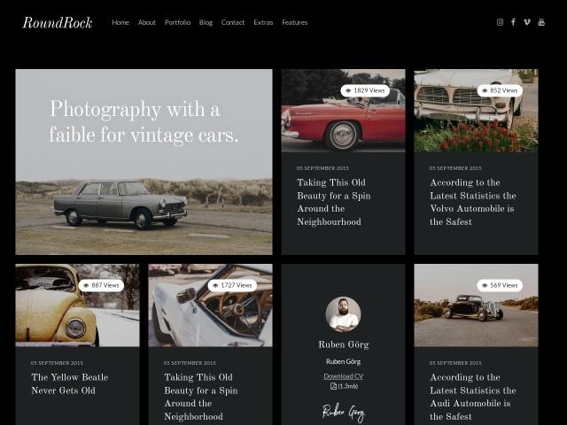 RoundRock - Photography Portfolio & Blog Joomla Template Screenshots