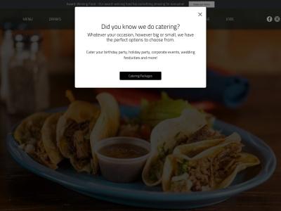 screenshot of E-Bar Tex-Mex's homepage