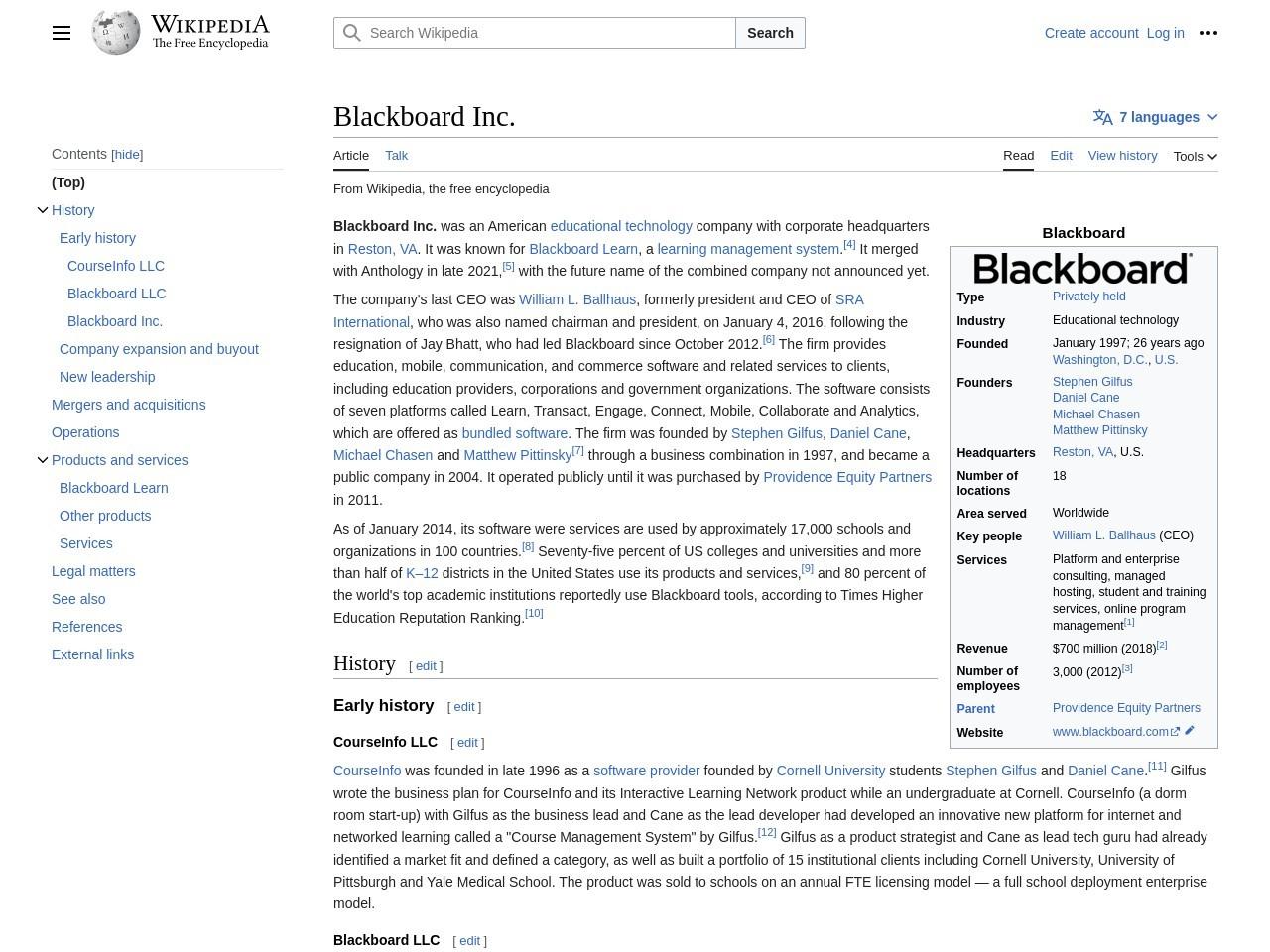 Blackboard Inc. - Wikipedia