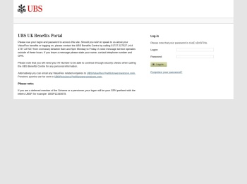 Log in - UBS UK Benefits Portal - ePA