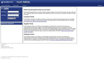 Welcome P&WC Portal Login
