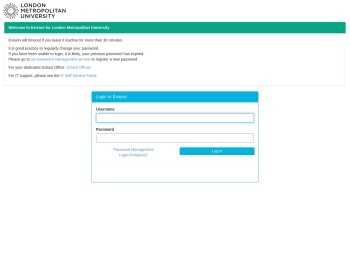 Login to Evision - London Metropolitan University