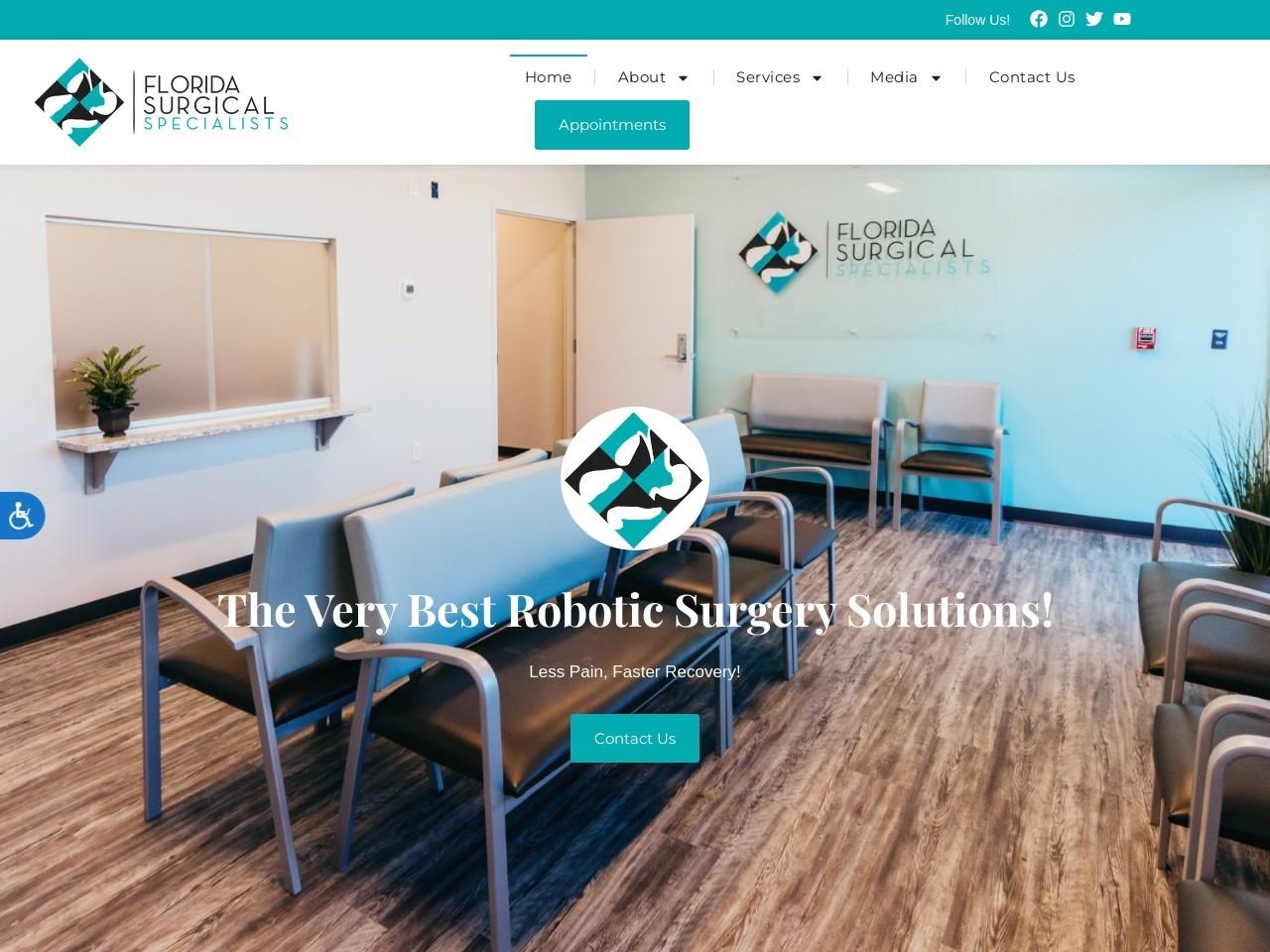florida surgical specialists website screenshot
