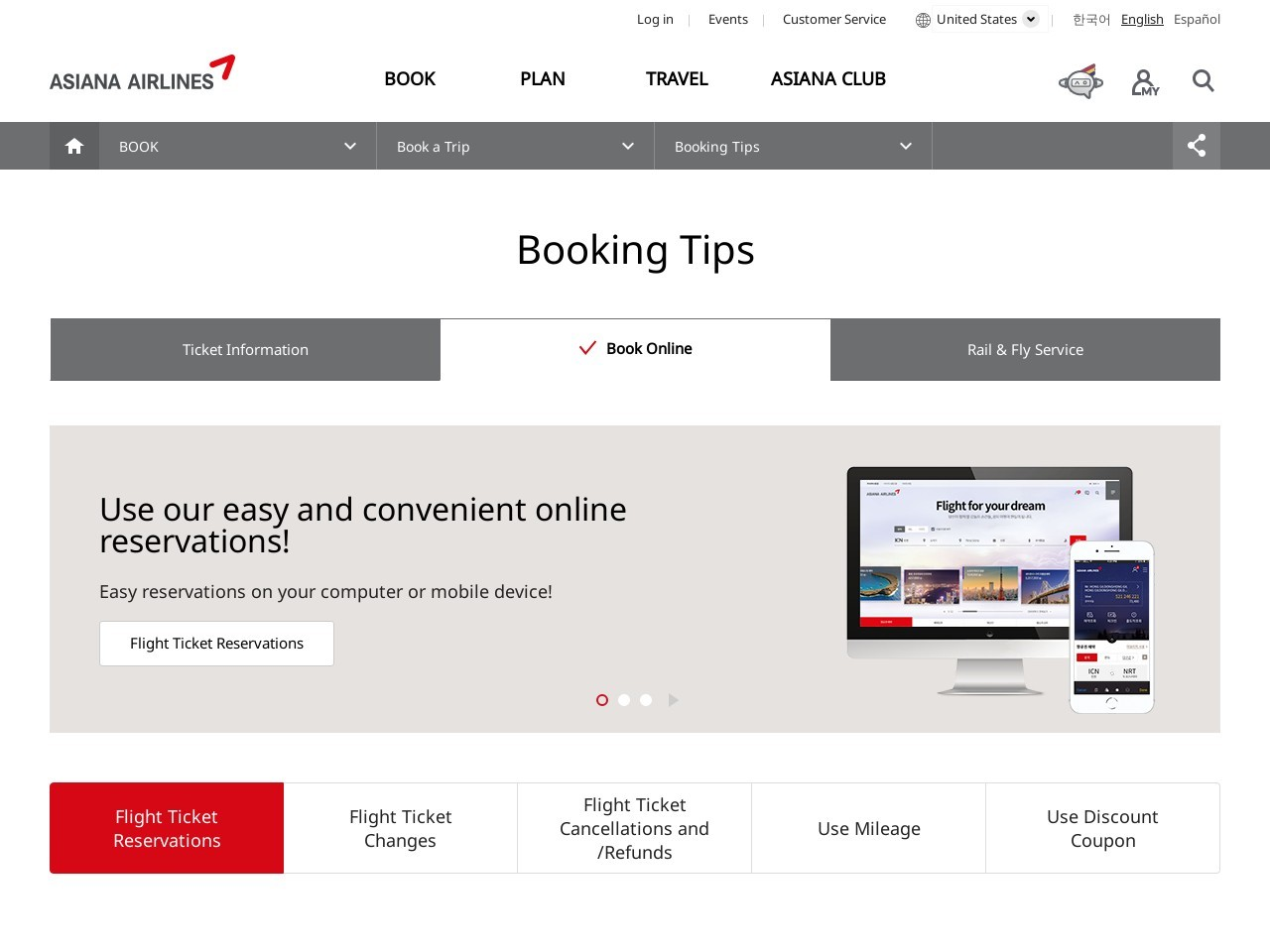 Book Online  ASIANA AIRLINES