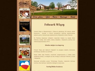 Folwark Wiązy noclegi wesela imprezy firmowe Kraków okolice blisko pod