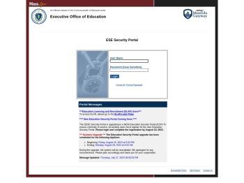 ESE Security Portal