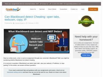 Can Blackboard detect Cheating: open tabs, webcam, copy, IP