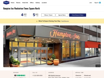 Free Breakfast at Our Hampton Inn Times Square NYC Hotel