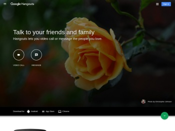 Google Hangouts - Get Started with Hangouts on Desktop or ...
