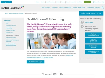 HealthStream® E-Learning | Hartford HealthCare