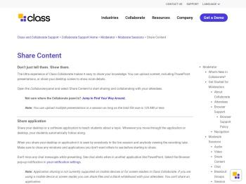 Share Content in Blackboard Collaborate Sessions