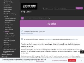 Rubrics | Blackboard Help