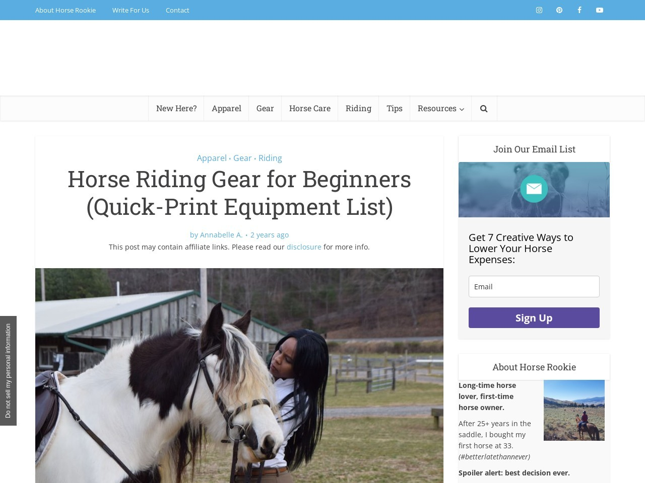 Equestrian Riding Equipment